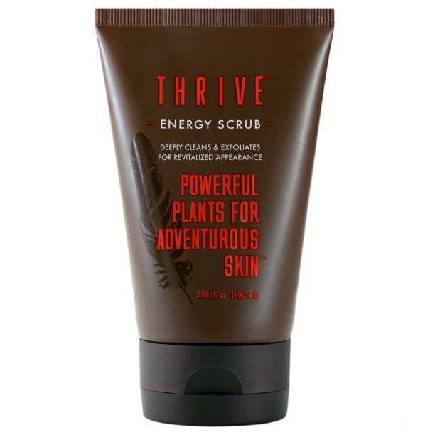 THRIVE All Natural Face Scrub for Men & Women – Exfoliating Face Wash Improves Skin Texture, Unclogs Pores, Helps Prevent Blackheads & Ingrown Hairs – Made In USA – Vegan Facial Scrub