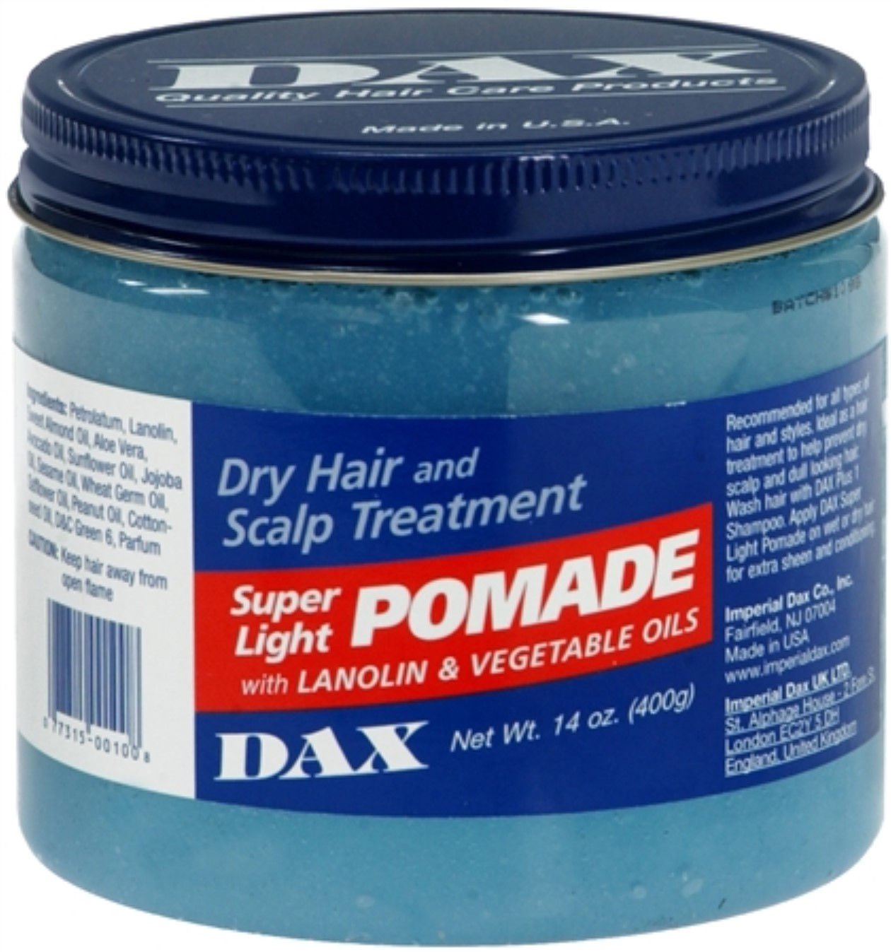 Dax Super Light Pomade For Dry Hair And Scalp Treatment - 14 Oz