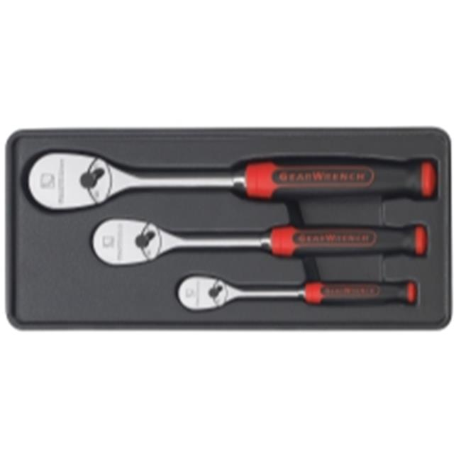 GearWrench KDT81207F 3 Pieces Ratchet Set with Cushion Grip