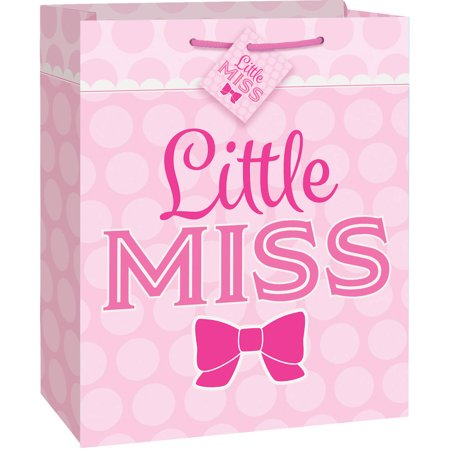 Pink Bow Little Girl Gift Bag for $<!---->