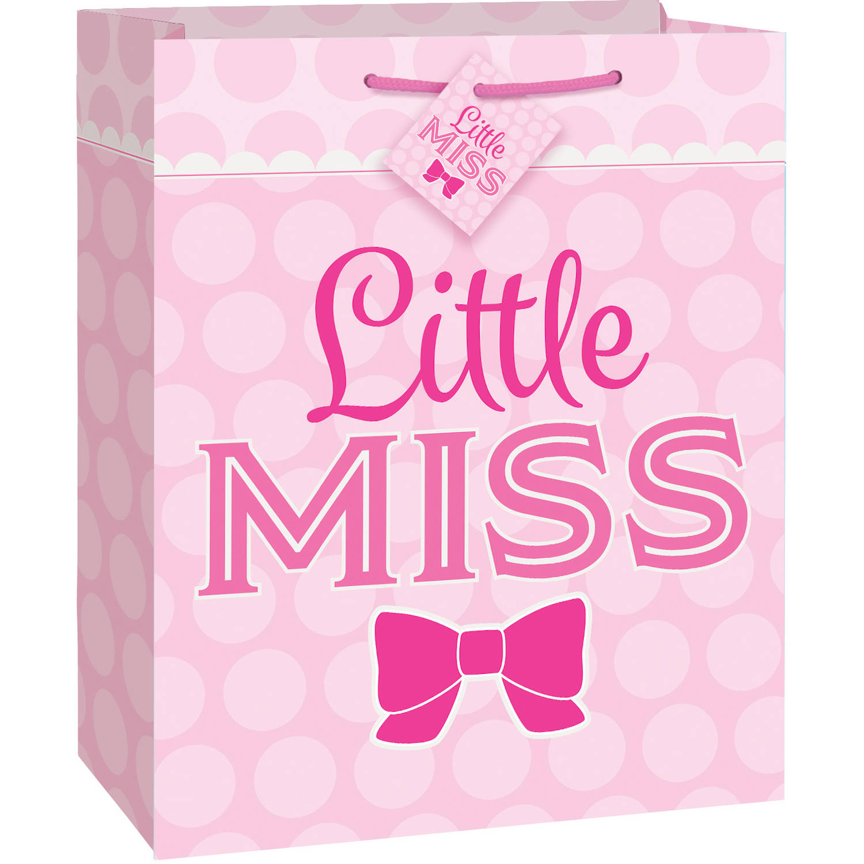 Pink Bow Little Girl Gift Bag