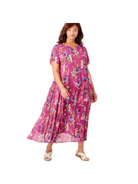 Woman Within Plus Size Petite Crinkle Dress
