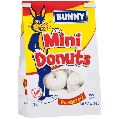 Bunny Powdered Mini Donuts, 7 oz