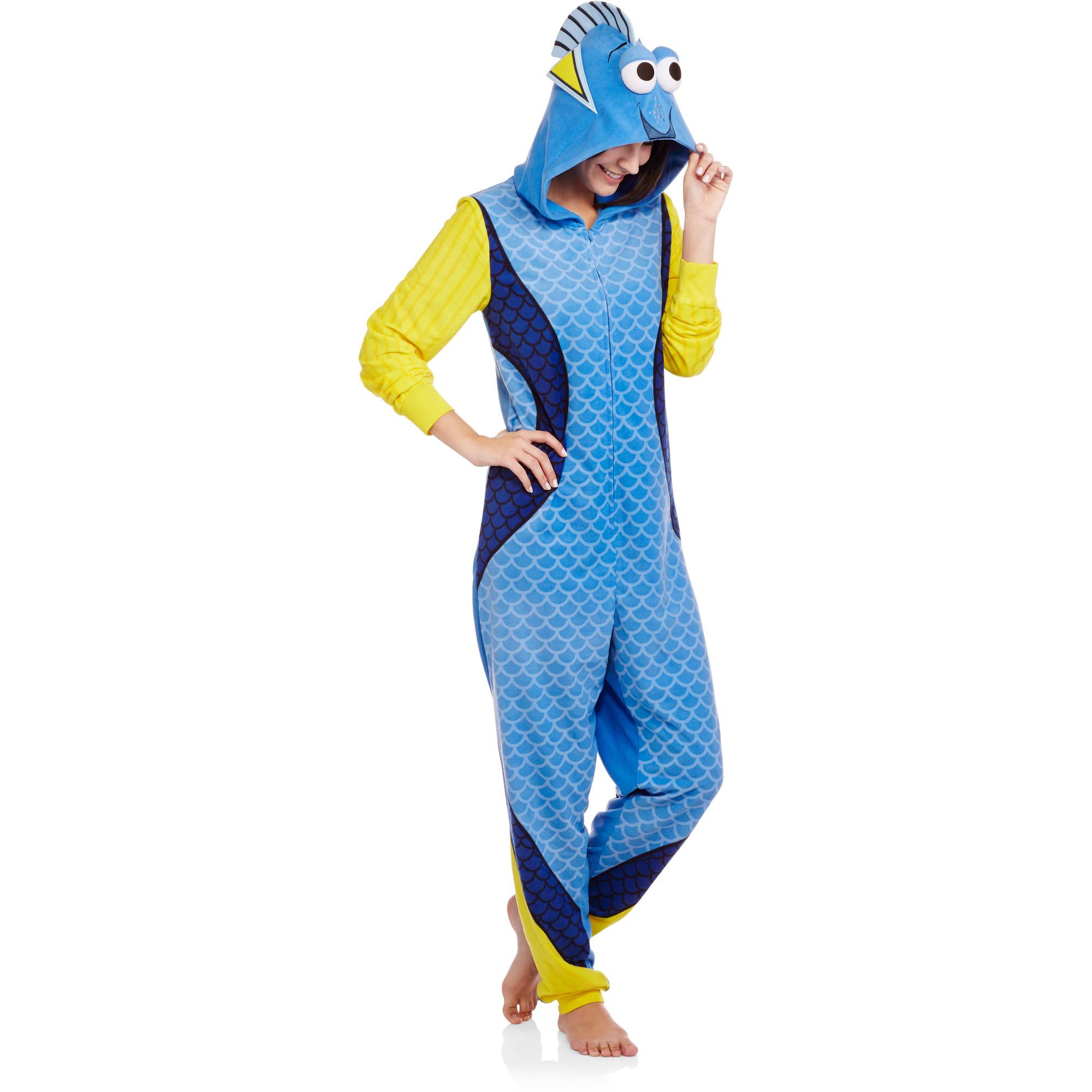 Disney Finding Dory Women's and Women's Plus License Sleepwear Adult Onesie Costume Union Suit Pajama (XS-3X)