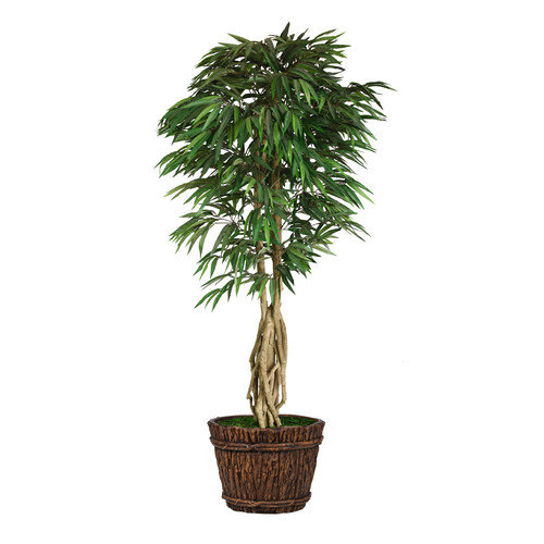 "86"" Tall Willow Ficus Artificial Faux Decorative with Multiple Trunks in Planter By Minx NY"