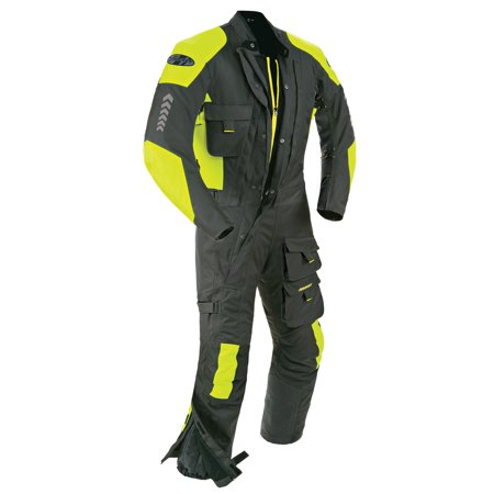 Joe Rocket Survivor Mens Black/Hi-Visibility Yellow Textile Riding (Joe Rocket Riding Jackets)