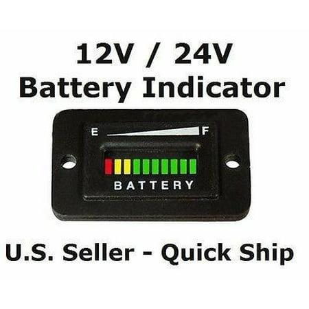 12V 12 Volt Marine Trolling Motor Battery Charge Indicator Meter (Rolls Marine Battery)