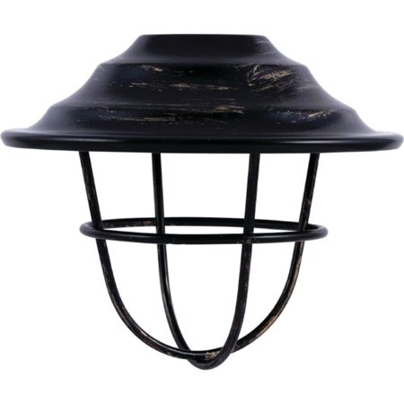 Enbrighten Accessory Lens Shades for Enbrighten Café String Lights, 6 Oil-Rubbed Bronze Cage Shades, (Bronze Organza Shade)