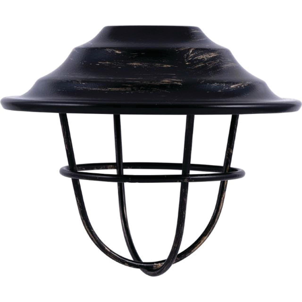 Enbrighten Accessory Lens Shades for Enbrighten Café String Lights, 6 Oil-Rubbed Bronze Cage Shades, 35877