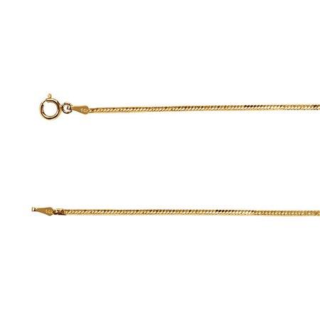 1.5mm 14k Yellow Gold Herringbone Chain Necklace