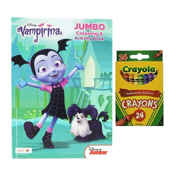 Disney Vampirina Coloring Book With Crayola Crayons 24 Pack Walmart Com Walmart Com