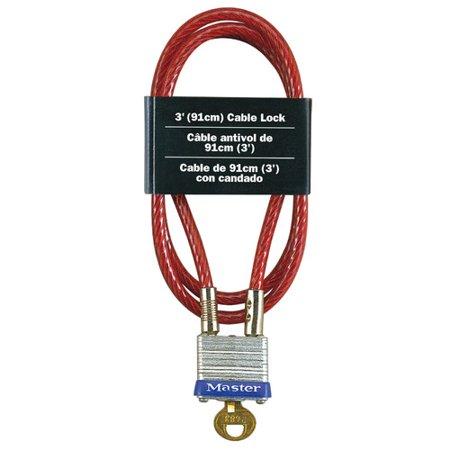 Master Coded Notebook Lock - Master Lock 719D Laminated Padlock and Cable
