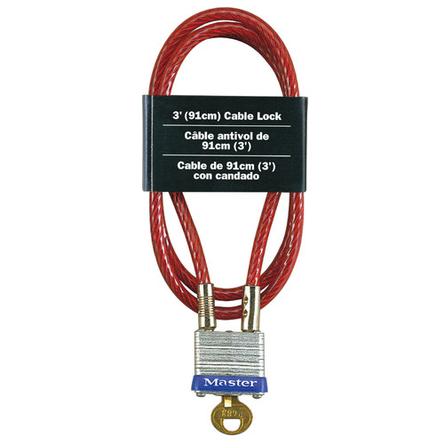 Master Lock 719D Laminated Padlock and Cable