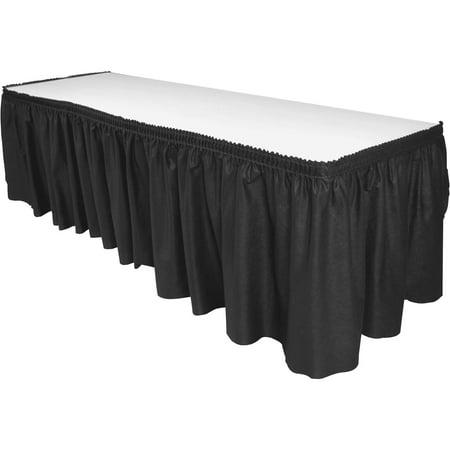Genuine Joe, GJO11916, Nonwoven Table Skirts, 1 Each, Black - Black Table Skirt
