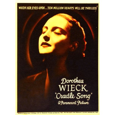 Cradle Song Dorothea Wieck On Midget Window Card 1933 Movie Poster