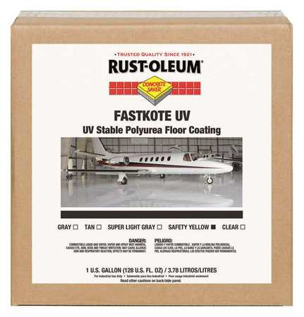 RUST-OLEUM Floor Coating,Water,1 gal.,Safety Yello 278270