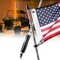 Xprite Orange 5ft LED Flag Pole Safety Antenna Whip Light