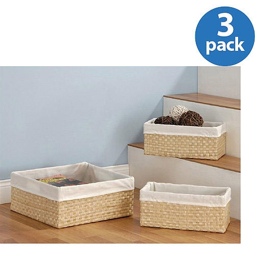 Neu Home Seagrass Baskets, Set of 3