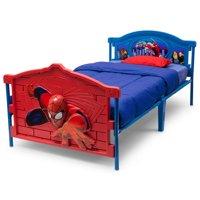 Delta Children Marvel Spider-Man 3D Plastic Twin Bed, Red