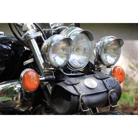 LAMINATED POSTER Spotlight Chrome Bag Blinker Motorcycle Vehicle Poster Print 24 x (Chrome Single Spotlight)