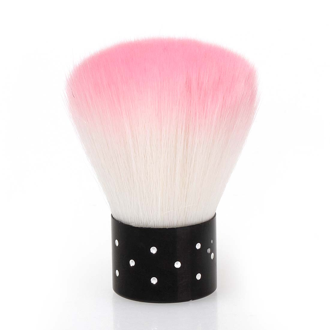 Bmc pink colored synthetic fiber acrylic manicure dusting brush nail art tool