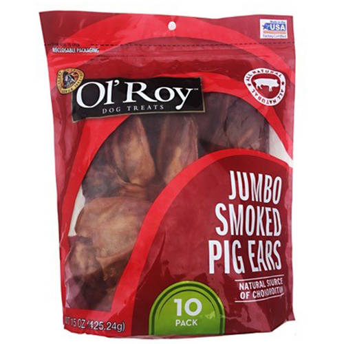 Ol Roy Pig Ear Chew, 10-Pack