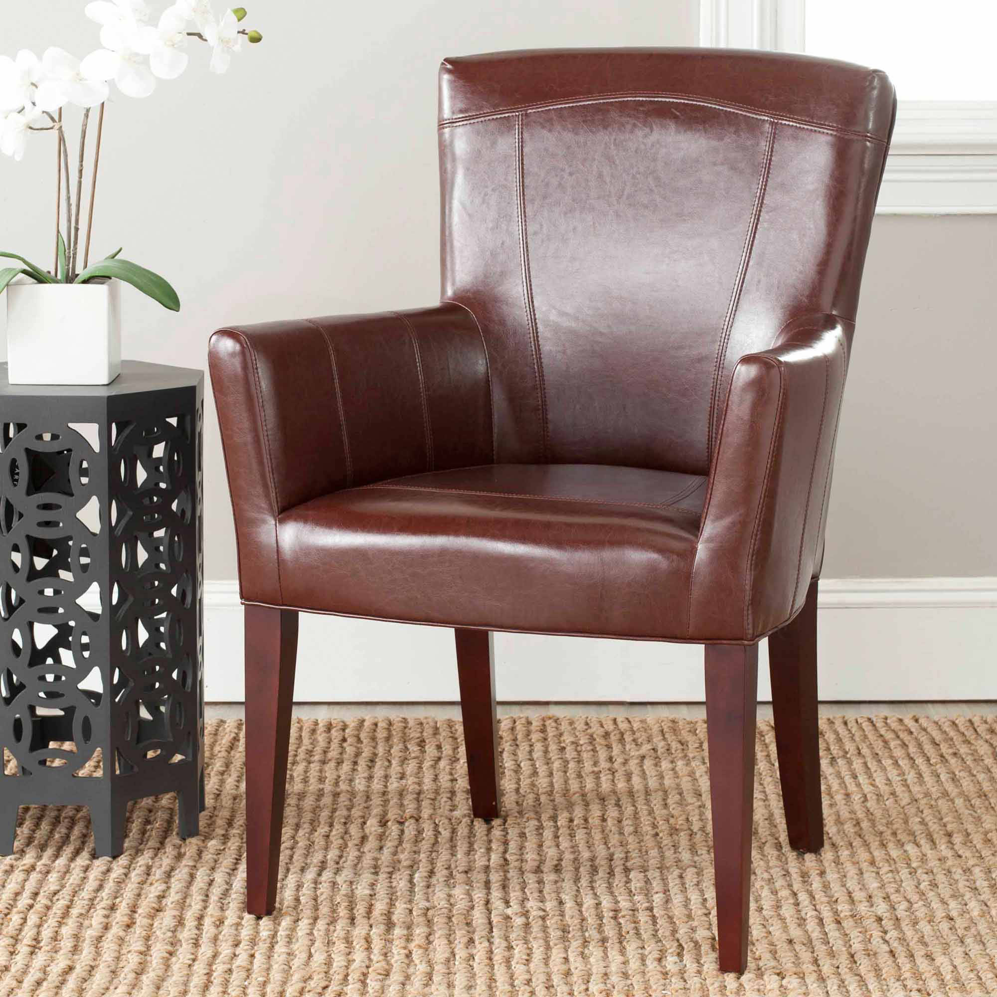 Safavieh Dale Bicast Leather Arm Chair, Multiple Colors