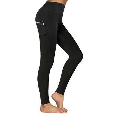 Fancyleo Women's Tight-fitting Slim Elastic Black and Color Workout Fitness Yoga Base