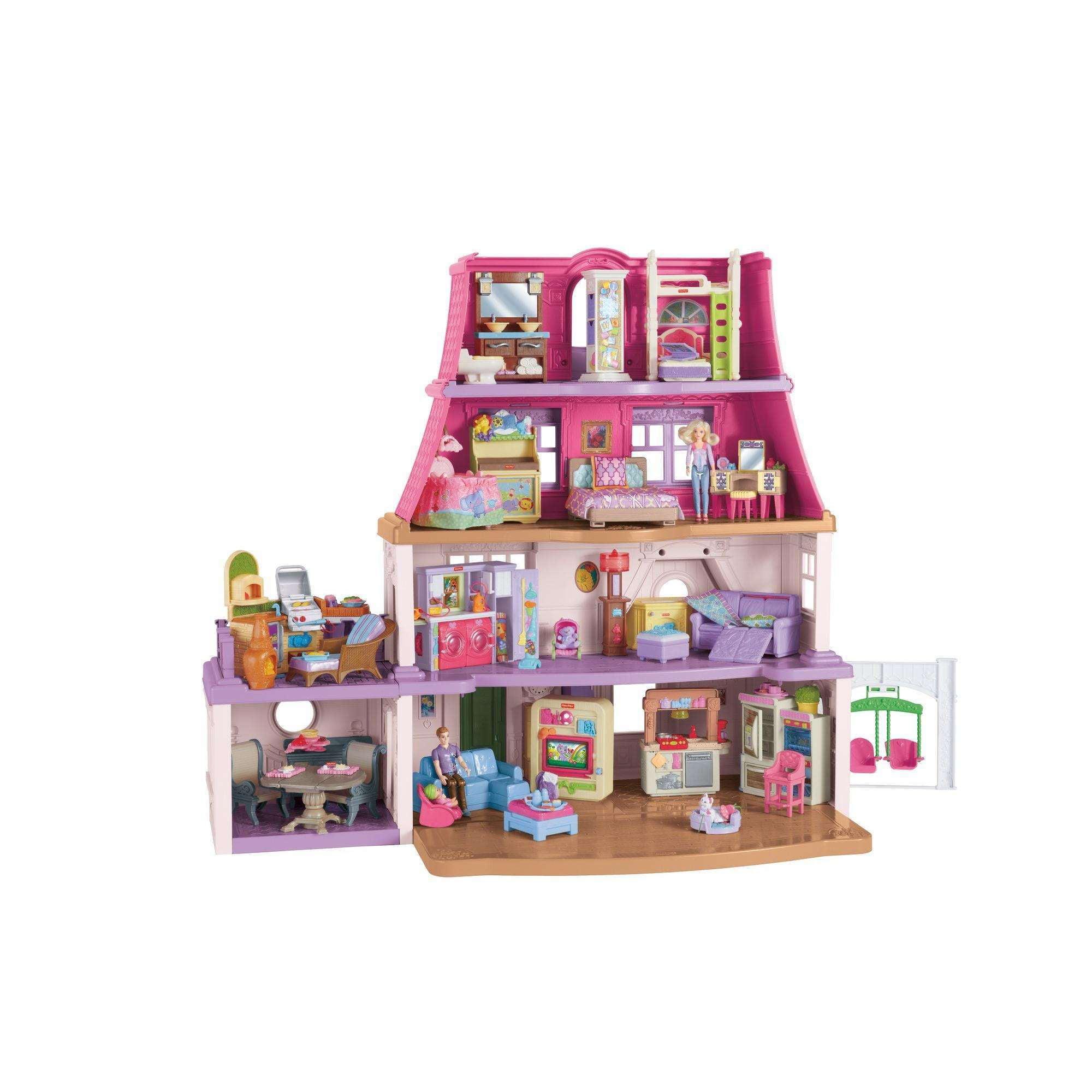 Fisher Price Loving Family Dollhouse Walmart Com
