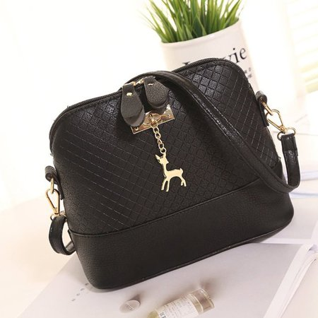 OCDAY Women All Match Clothes PU leather Single Shoulder Crossbody Bag Shell Bag - image 3 of 6