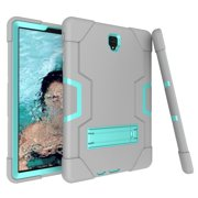 Allytech Samsung Galaxy Tab S4 10.5 2018 Case, [Heavy Duty] Rugged Hybrid Protective Kids Proof Case Cover Build in Kickstand for Samsung Galaxy Tab S4 10.5 inch SM-T830/T835/T837 (Gray/Aqua)