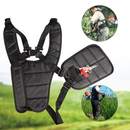 EEEKit Trimmer Shoulder Strap Mower Trimmer Harness Strap Adjustable Padded Strap with Double Durable Nylon Belts for Brushcutters/Trimmers/Strimmer Harness, fit for STIHL, ECHO, Husqvarna (Stihl Trimmer Harness)