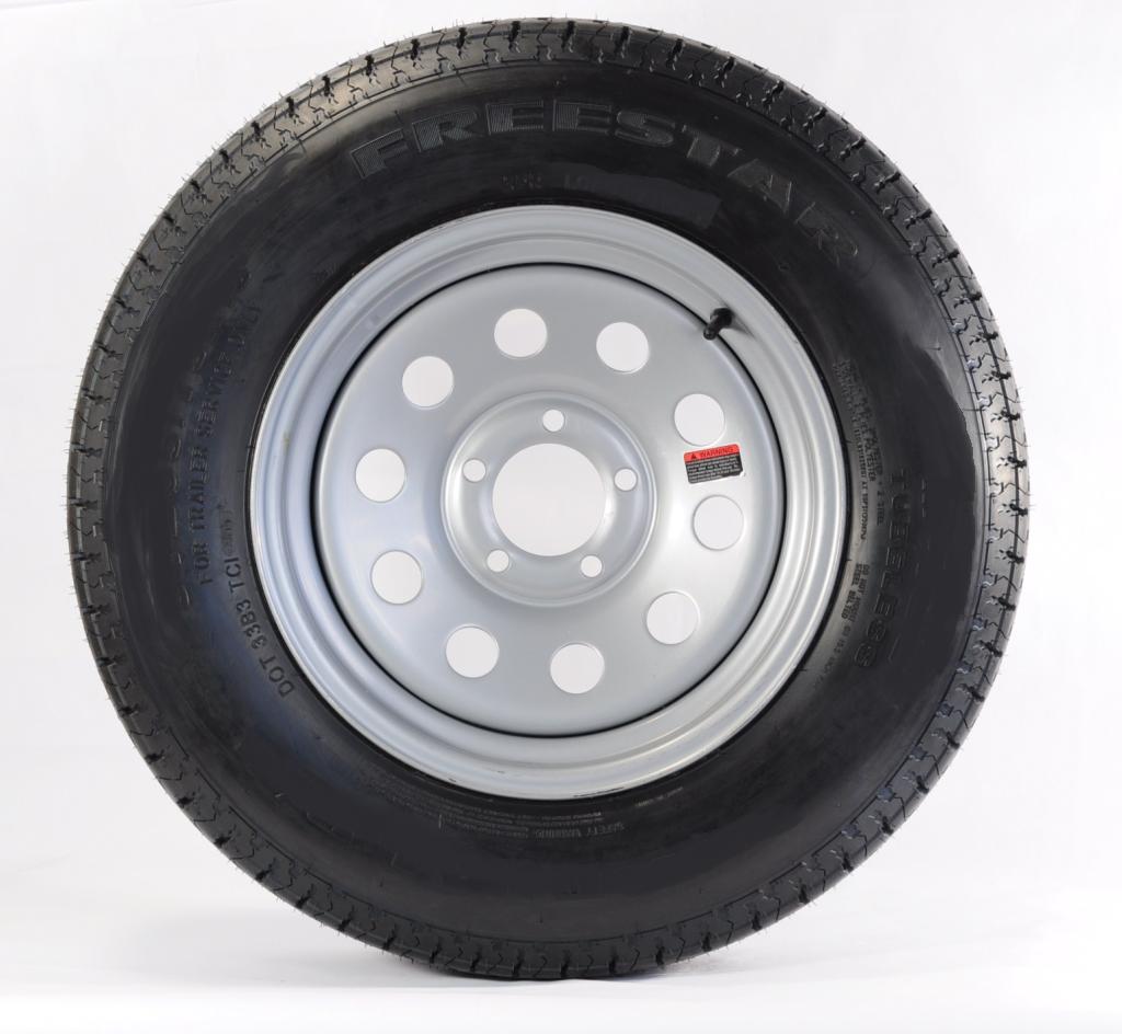 Two Trailer Tires & Rims ST205/75D14 2057514 F78-14 14 C ...