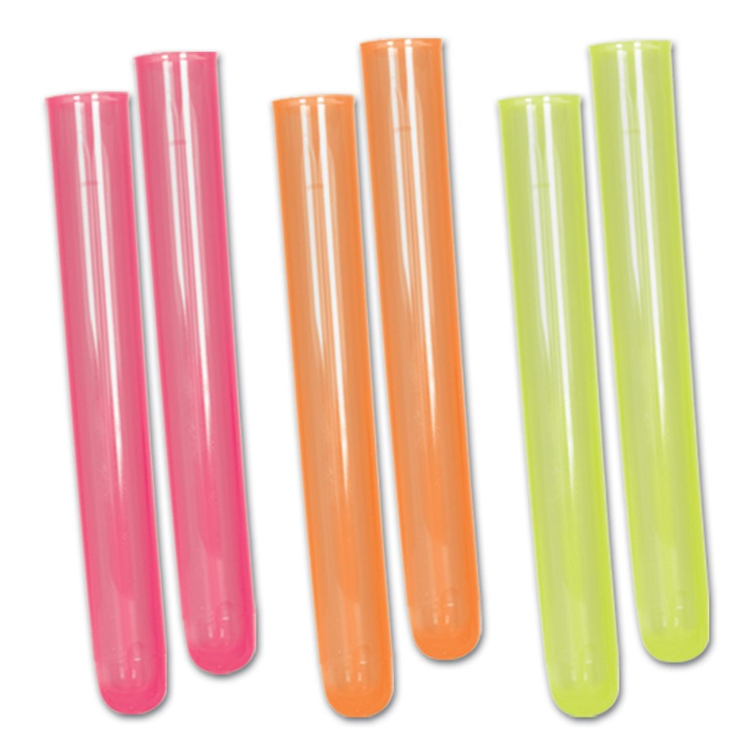 Club Pack of 72 Multi-Colored Neon Test Tube Plastic Shot...