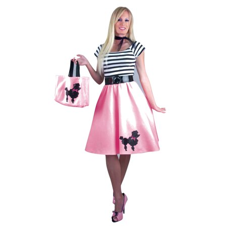 pink black 50s poodle dress adult womens halloween costume