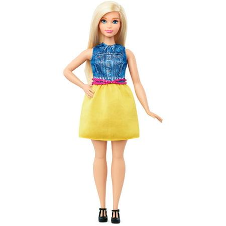 barbie fashionistas chambray chic curvy body doll - Barbie Fe