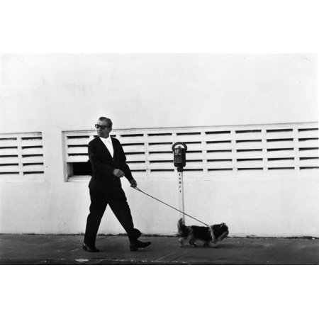 Meyer Lansky Walking Bruzzer on Miami Beach, 1979 Print Wall Art