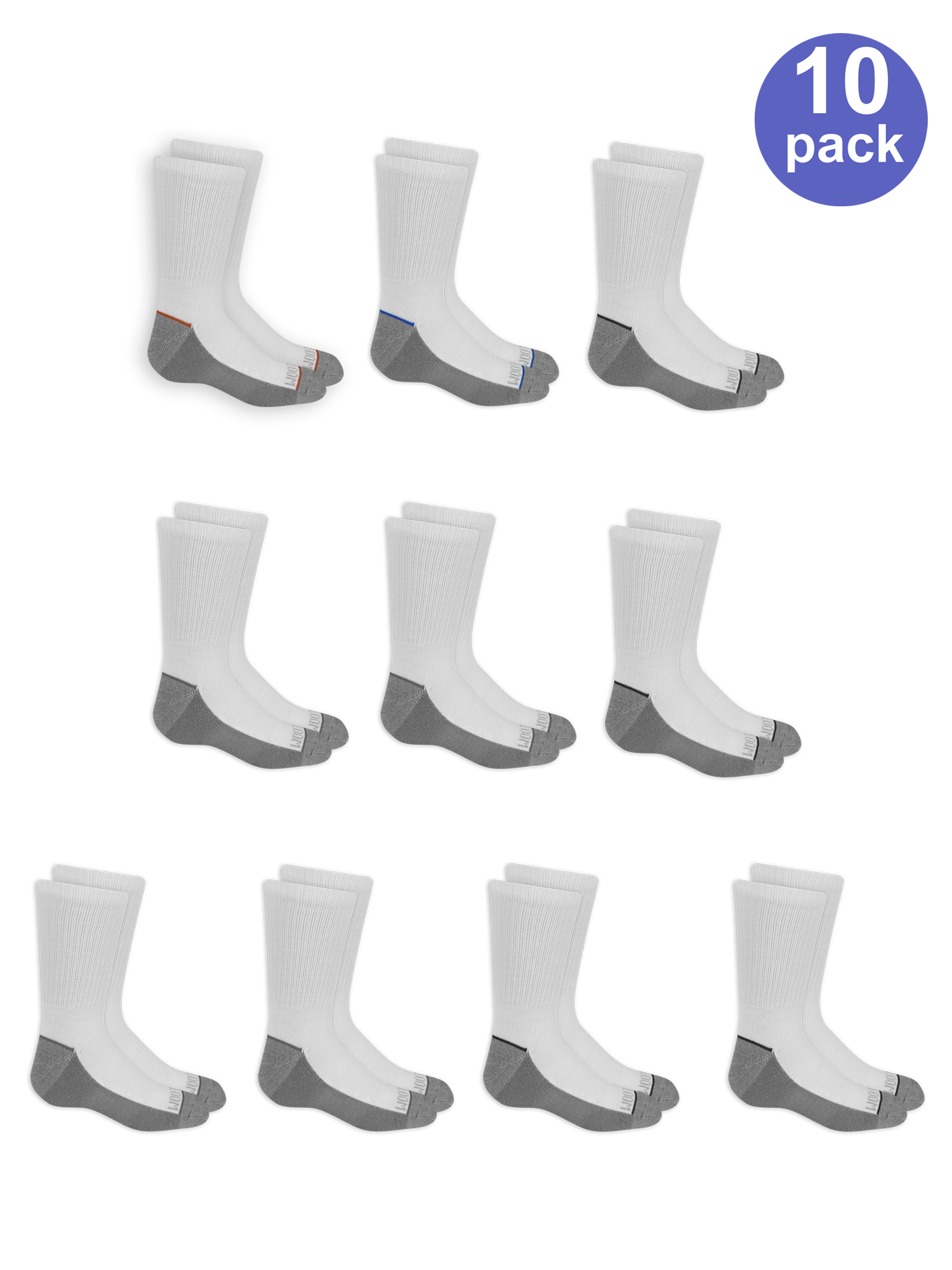 Fruit of the Loom Crew Socks 10 Pairs (Little Boys & Big Boys)