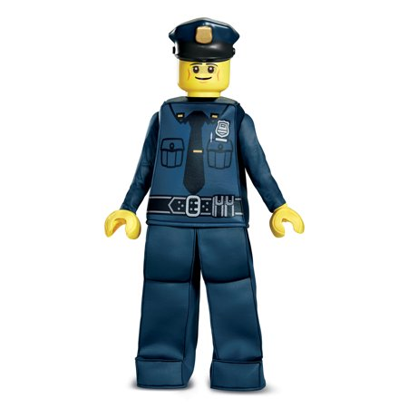 Kids LEGO Police Officer Prestige Halloween Costume - Lego Police Halloween Costume