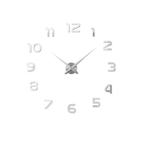 Tone Clock Circuit - Bedroom Plastic Arabic Numerals Shaped DIY Removable Sticker Clock Silver Tone