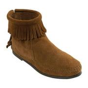 Women's Minnetonka Back Zipper Boot - Suede
