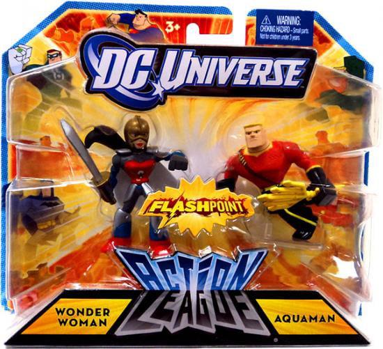 DC Universe Action League Wonder Woman & Aquaman Mini Figures