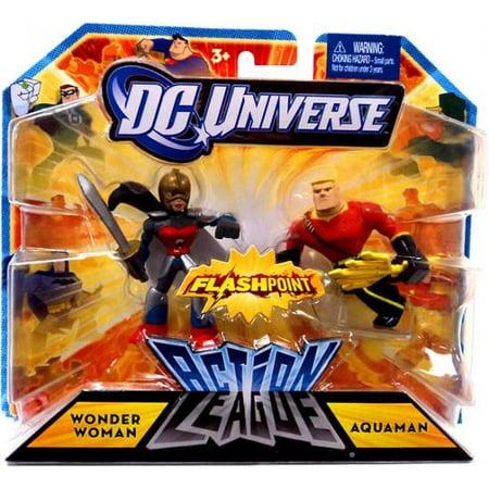 DC Universe Action League Wonder Woman & Aquaman Mini Figure, 2 Pack Wonder Woman Mini