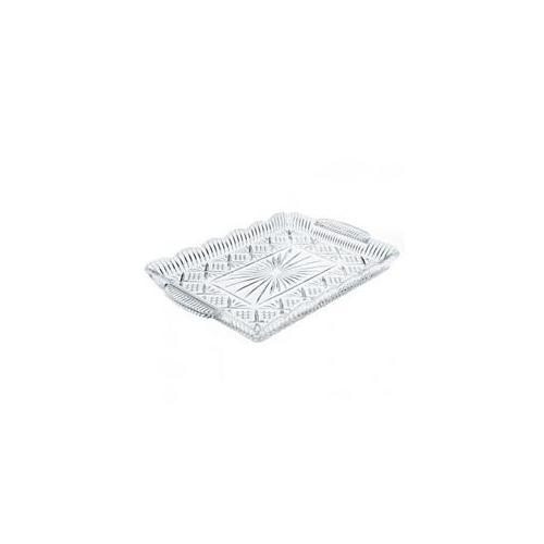 """16"""" Dublin Starburst Design Non-Leaded Crystal Rectangular Serving Appetizer Dessert Tray Platter with... by Godinger"""