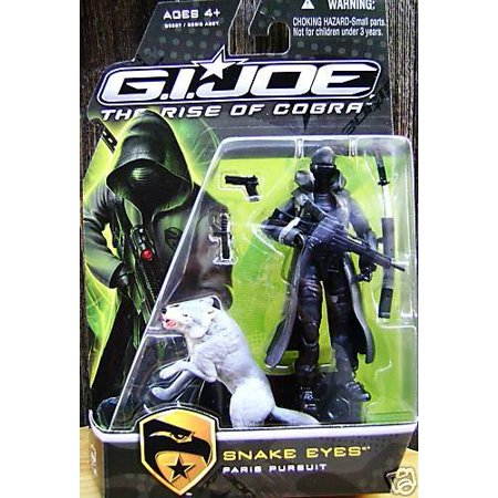 G I  Joe The Rise of Cobra Movie Figure Snake Eyes (Paris Pursuit) with  Gray Timber 3 75 Inch Scale