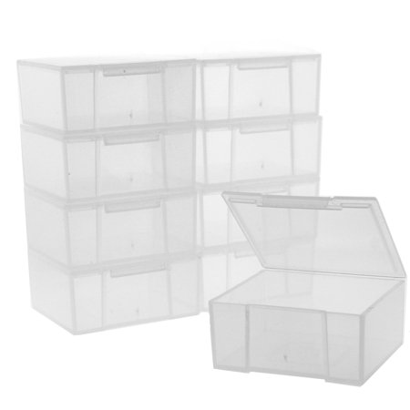 Clear Bead Storage - 12 Storage Square Clear Container For Crafts Beads Small Items Organizer 2 inches Square