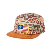 Mishka Mens The Patterson 5 Panel Baseball Cap, brown, One Size