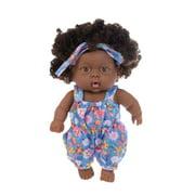 Tuscom Black African Black Baby Cute Curly Black 20CM Vinyl Baby Toy