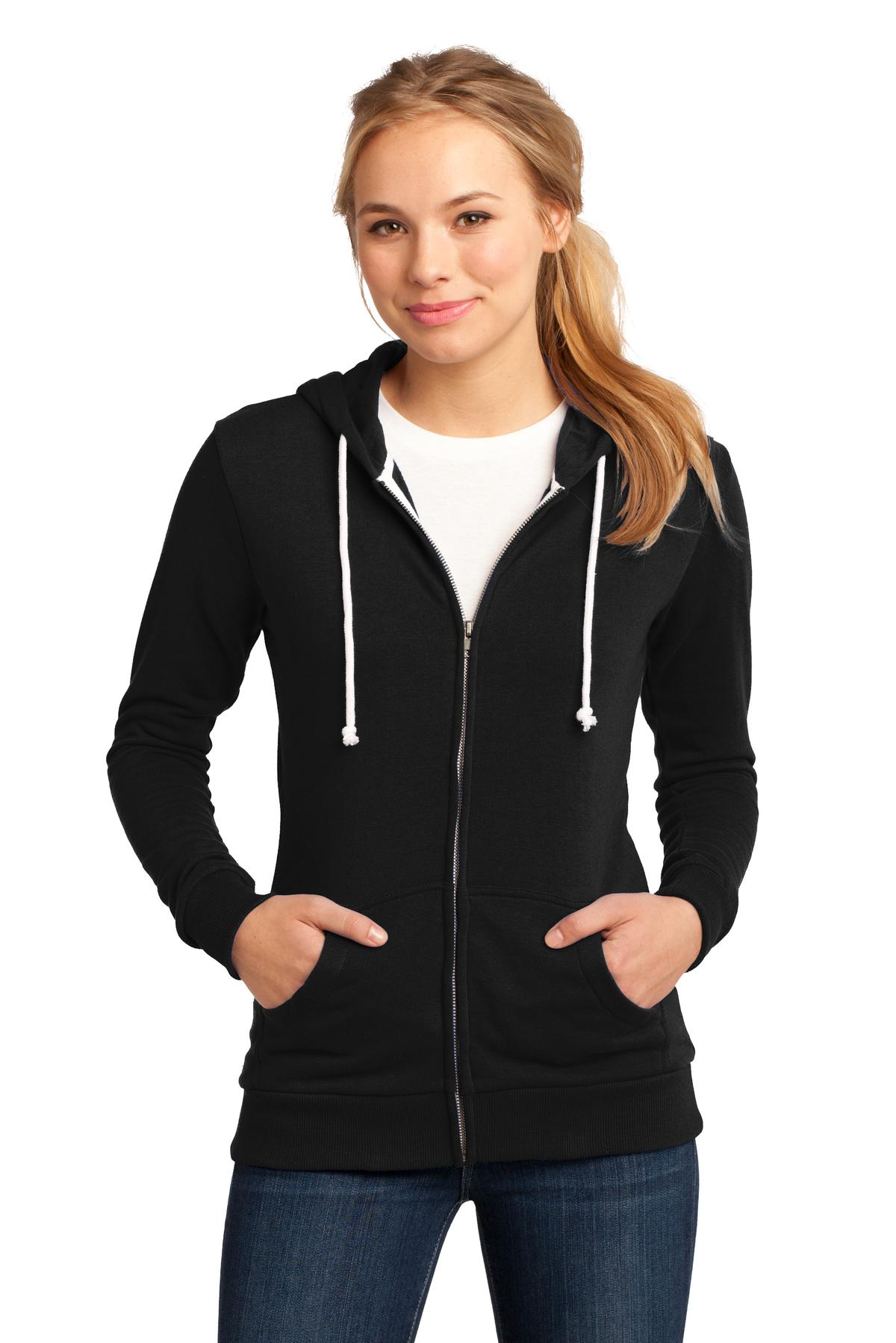 District - Juniors Core Fleece Full-Zip Hoodie DT290