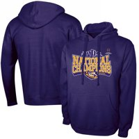 LSU Tigers Russell Athletic College Football Playoff 2019 National Champions Pullover Hoodie - Purple